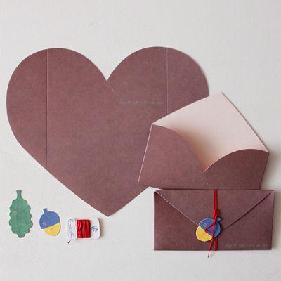 LUV LETTER-BROWN / heart letter