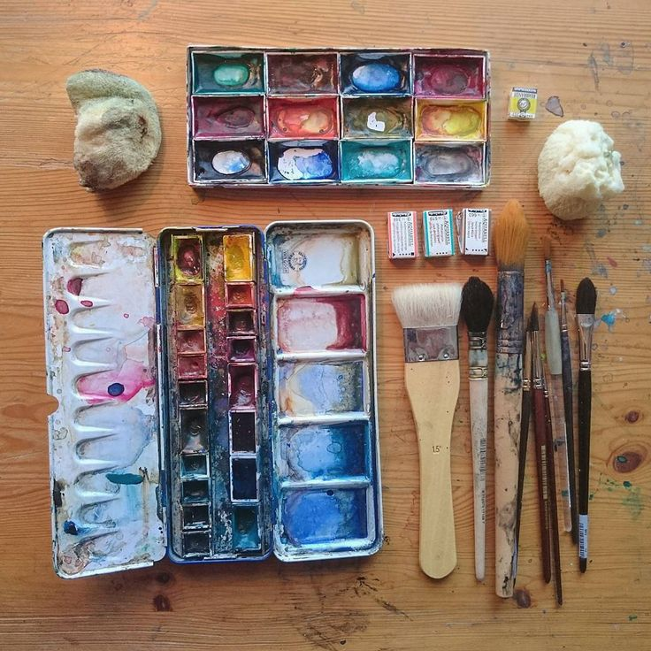Art tools by Ulla Thynell.