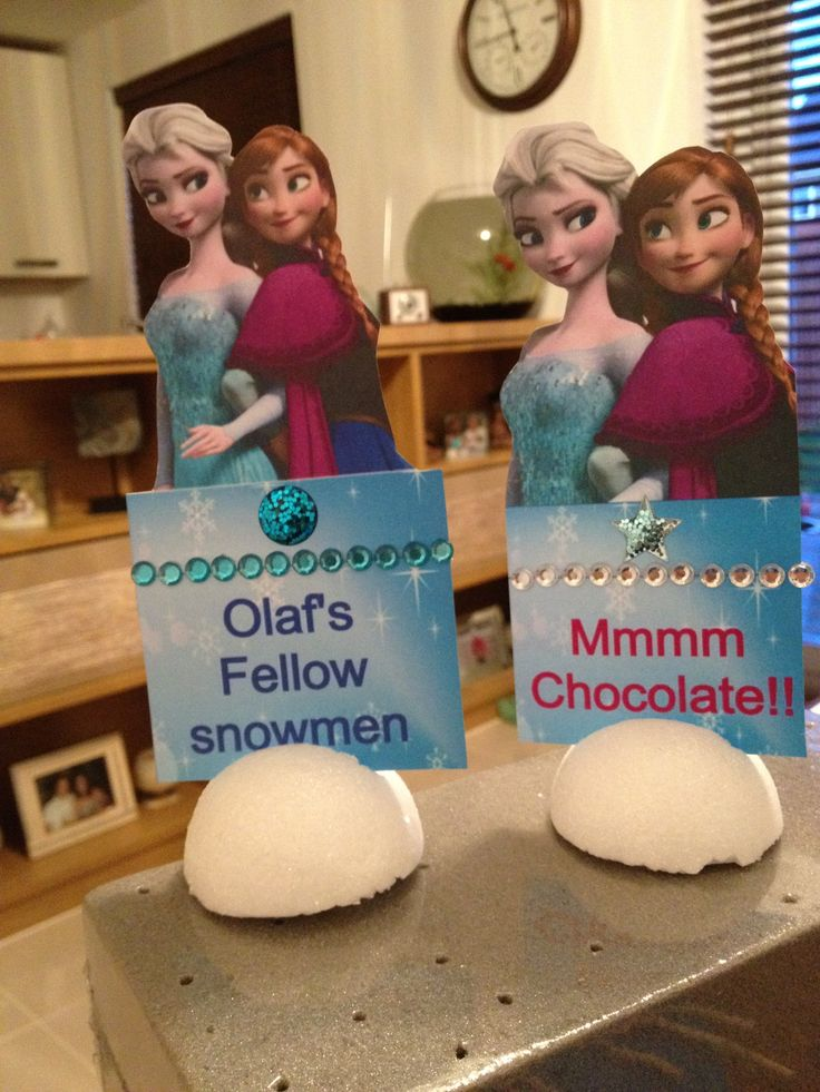 Frozen party food flags/descriptions x