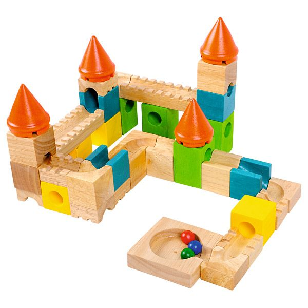 Kolorowy drewniany zamek #moje #bambino #wooden #toys #kids #fun  http://www.mojebambino.pl/klocki-konstrukcyjne/3501-kulodrom-kolorowy-zamek.html