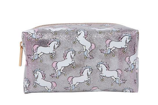 Because you're as special as a unicorn. Skinny Dip Glitter Unicorn Bag, £12, available at Skinny Dip London.  #refinery29 http://www.refinery29.uk/best-makeup-bags-cosmetic-cases#slide-9