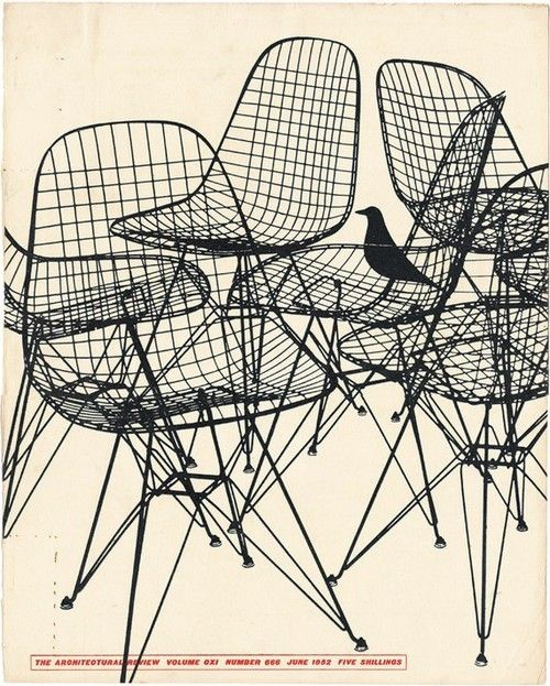 Architectural Review magazine, 1952    Herman Miller chairs