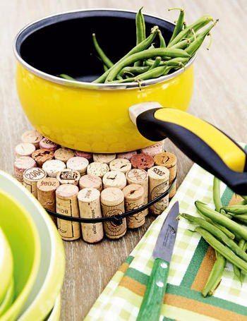 Reutiliza los corchos de vino.