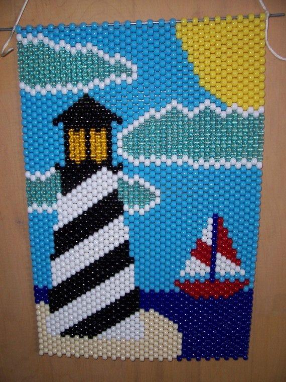 Light House Beaded Banner by CraftingAddiction on Etsy.