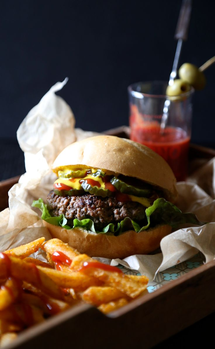 Climbing Grier Mountain bloody mary chipotle burger - Climbing Grier Mountain