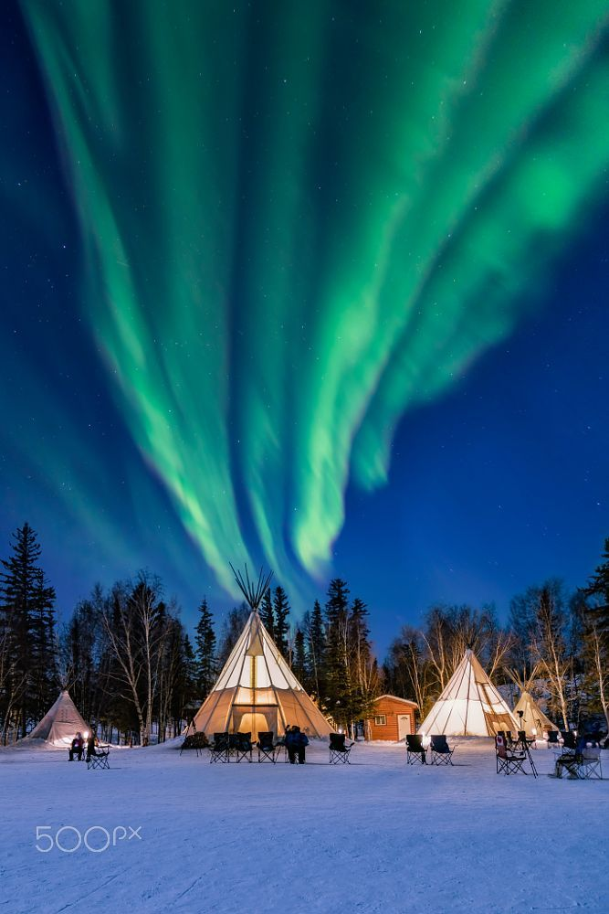 Amazing northern lights high up the Teepees by Ken Phung on 500px