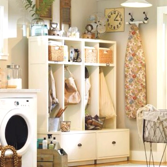 Pottery Barn Laundry Room Hooks To Hang Ironing Board