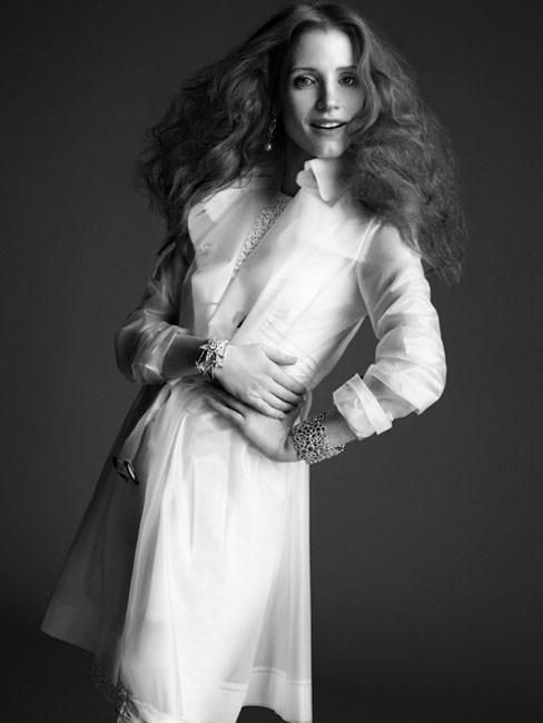 Crash Magazine - Jessica Chastain in a Terra New York trench