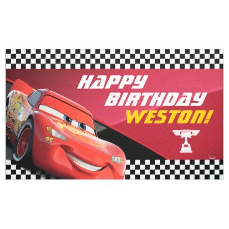 Cars Lightning McQueen | Birthday Banner - tap to personalize and get yours