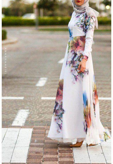 Annah Hariri -Silk Flower Dress