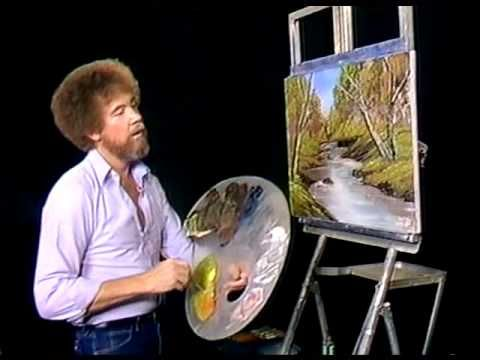 Bob Ross - Painting Whispering Stream - Painting Video