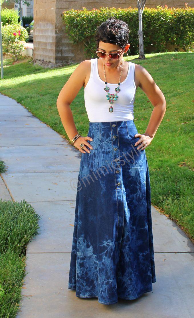 mimi g.:  #DIY Tie Dye Maxi Skirt + Tank