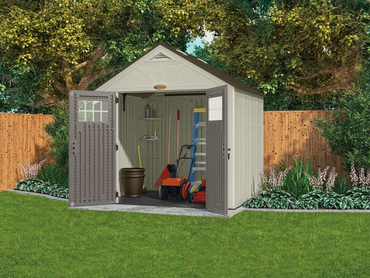 Outdoor organization is easy with a sturdy and stylish #Suncast shed.