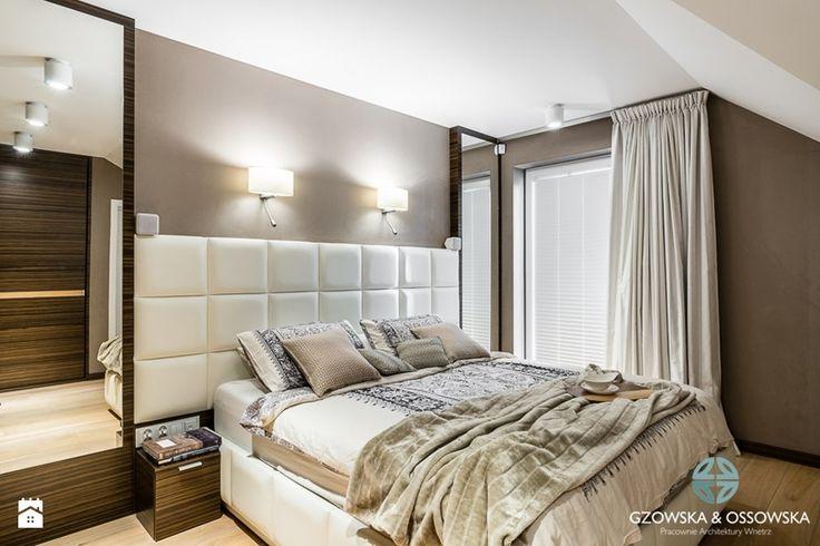 Luksusowa sypialnia - Sypialnia, styl nowoczesny - zdjęcie od Gzowska&Ossowska Pracownie Projektowania Wnętrz