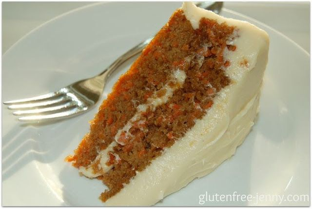 Gluten Free Carrot Cake from Gluten Free Jenny and other gluten-free carrot cake recipes on MyNaturalFamily.com #glutenfree #carrotcake #recipes