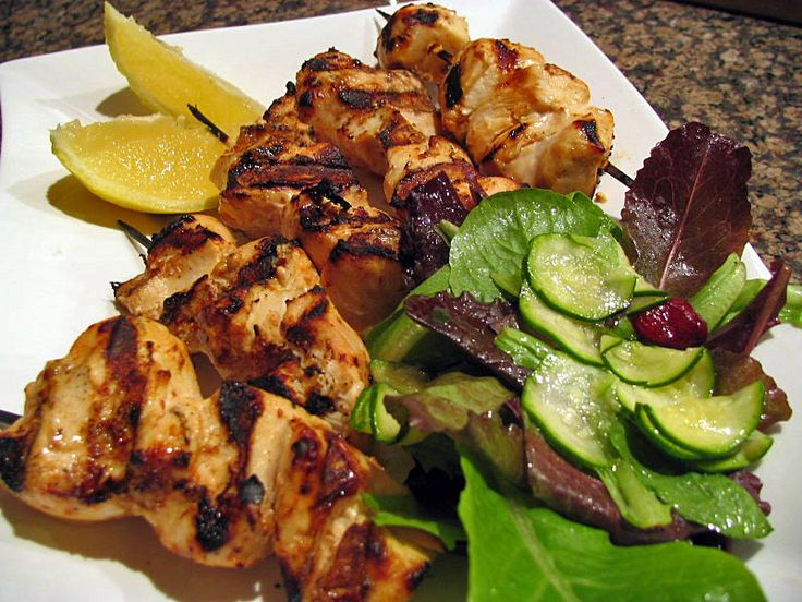 Turkish chicken kebabs (yougurt marinade)