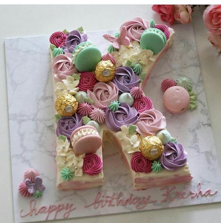 Amazing Letter Alphabet Cake Owl Cake Birthday Cake Lettering Cupcake Birthday Cards Printable Riciscafe Filternl