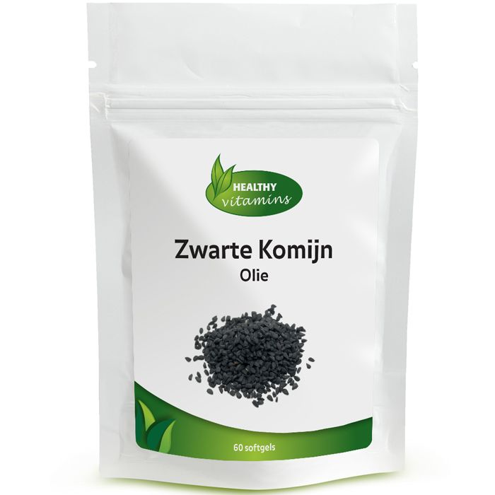 #Zwarte #Komijn olie (Nigella sativa, black cumin oil) wordt al duizenden jaren gebruikt ter ondersteuning van de gezondheid. De olie uit de zaden van de zwarte komijn bestaat voornamelijk uit onverzadigde vetzuren zoals omega 3 en 6. Daarnaast bevat het verschillende alkaloïden en saponines en de essentiële olie thymoquinone. Ontdek de kracht van Zwarte Komijn olie capsules. Prijs per 60 softgels: €14,95