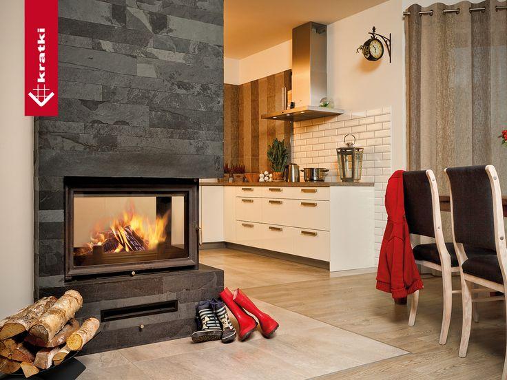 Fireplace OLIWIA 18 kW #kratkipl #kratki #fireplace #insert #interior #livingroom
