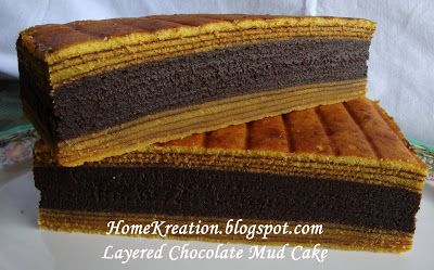 HomeKreation - Kitchen Corner: Layered Chocolate Mud Cake (Kek Idola)