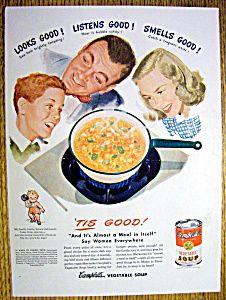 Vintage Ad: 1948 Campbell Vegetable Soup (Image1)