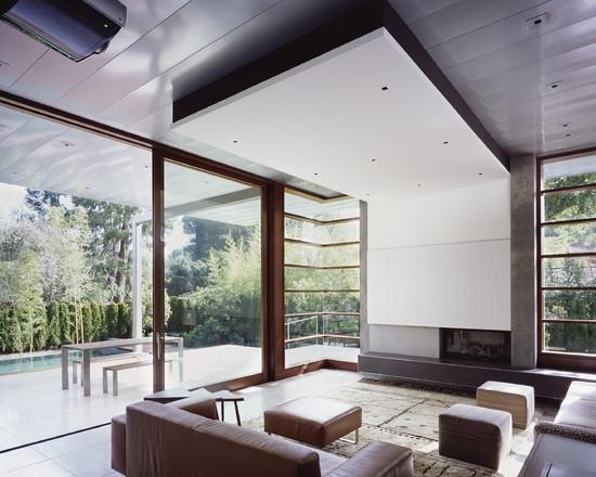 Modern Fireplace Mantel Design, Pictures, Remodel,. Corner WindowsModern  Living ...