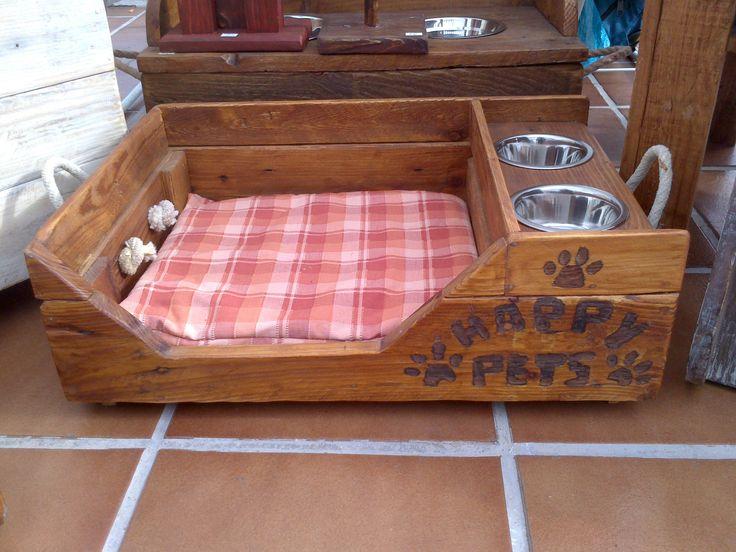 49 mejores im genes de artesan as chacra quil n en - Camas para perros de madera ...