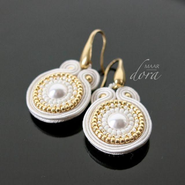 kolczyki sutasz / soutache earrings - www.doramaar.pl