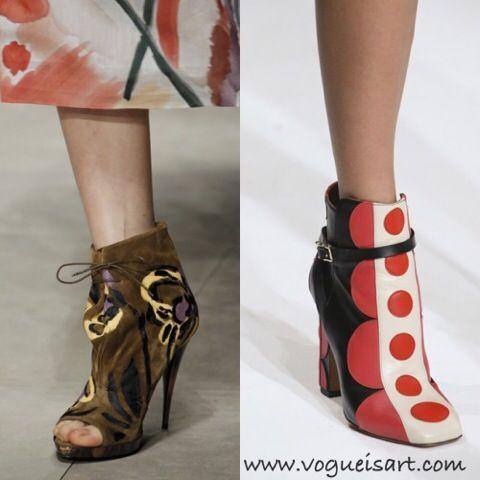 2014-2015 F/W shoes Fashion,2014-2015 F/W shoes trends,2014-2015 Sonbahar/Kış Ayakkabı Modası,2014-2015 Sonbahar/Kış Ayakkabı trendleri,2014-2015 Sonbahar/Kış Ayakkabı modelleri,60'lar Deseni Bootie,Sixties Print Bootie