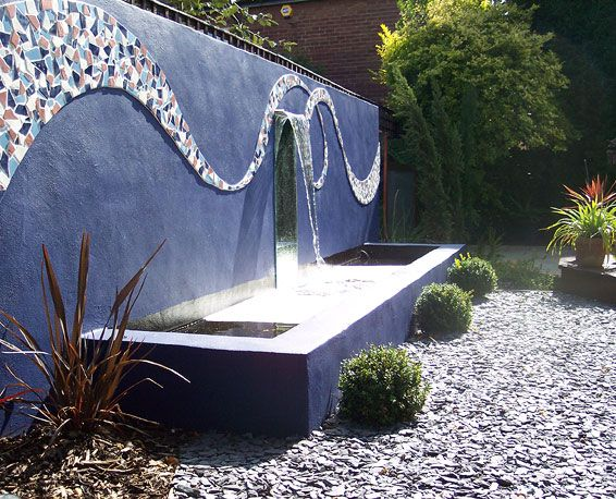 mosaic water feature