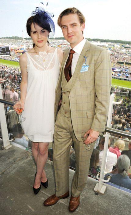 Michelle Dockery and Dan Stevens at Vanity Fair Downton ...  Michelle Dockery And Dan Stevens Married