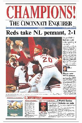 On September 30th 1990 the Reds won the NL West Title and move on to the National League Championship Series! Boy those were the good old days!