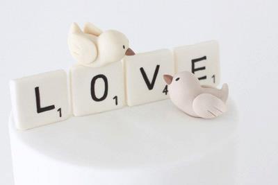 Love Birds Wedding Topper