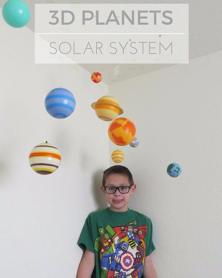 3d hanging planets are such a cool gift idea planets - Hanging planets decorations ...