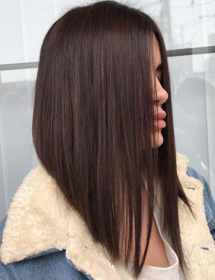 Carré plongeant long 2020: la coiffure qui convient à chaque type et forme de visage - Coiffures, Mode et Beauté - ZENIDEES en 2020 | Idee coupe cheveux long, Coupes de cheveux carré long, Coiffure carré plongeant