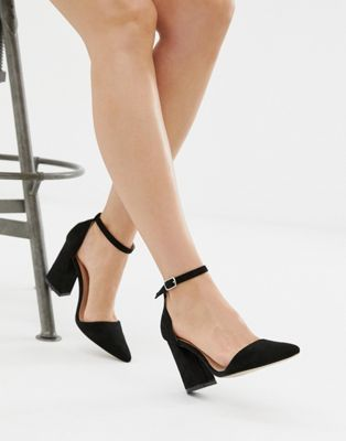 06fa4cd48 Glamorous pointed block heeled shoes in black in 2019