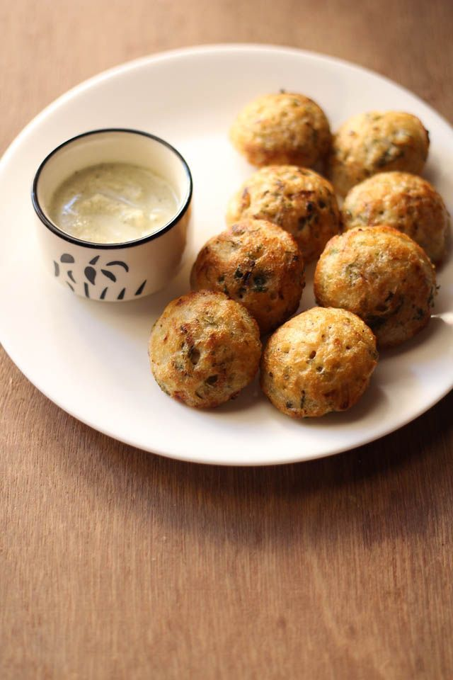 masala paniyaram recipe: masala paniyaram from leftover idli batter