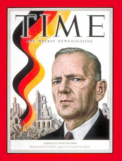 TIME Cover: Kurt Schumacher (Boris Artzybasheff, 1952)