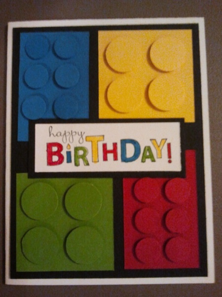 Lego Birthday (shoot! this would have been perfect for Eric's b-day card a few days ago!)