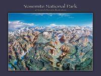 Национальный Парк йосемити Иллюстрации Урожай Ретро Декоративные Плакат DIY…
