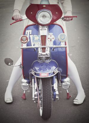 Vespa Moped! important fashion statement!