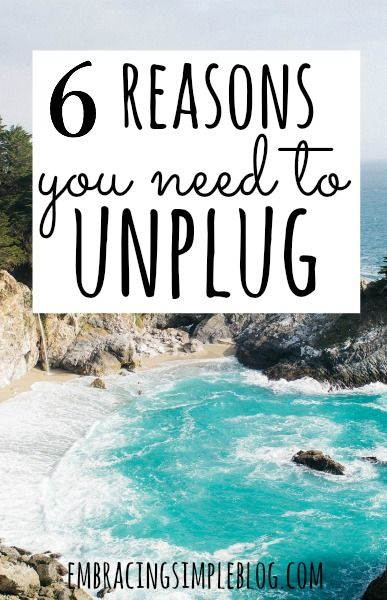 Life is too short to be glued to a screen all the time. Here are the 6 reasons you NEED to unplug from technology today!