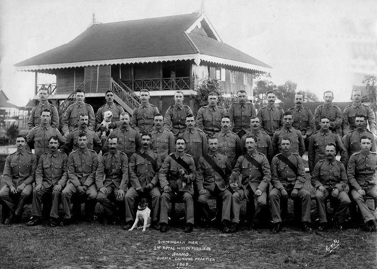 Birmingham men, 2nd Bn RWF Bhamo, Burma 1909 — with 9157Howard Henry Smith 2nd Bn RWF.