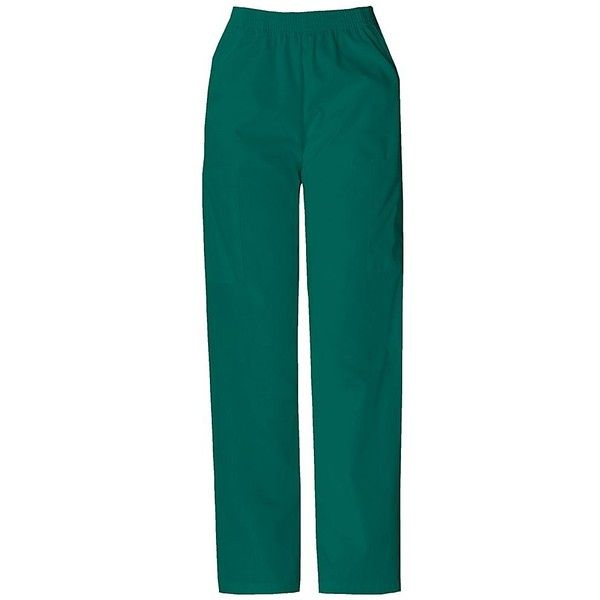 Dickies(R) Elastic-Waist Scrub Pants ($20) ❤ liked on Polyvore featuring pants, men, tall pants, cargo pocket pants, blue trousers, petite trousers and elastic waist pants