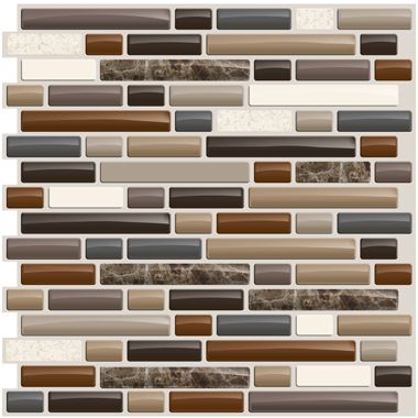 Smart tiles bellagio mosaik peel n stick backsplash - Imitation faience adhesive ...