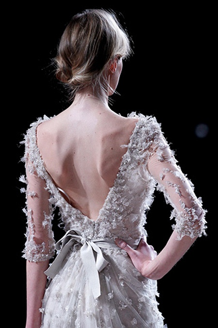 bits of flowers: Couture Details, Wedding Dressses, Elie Saab Spring, Dresses Style, Ellie Will Be, The Dresses, Costumes Ideas, Back Details, Haute Couture