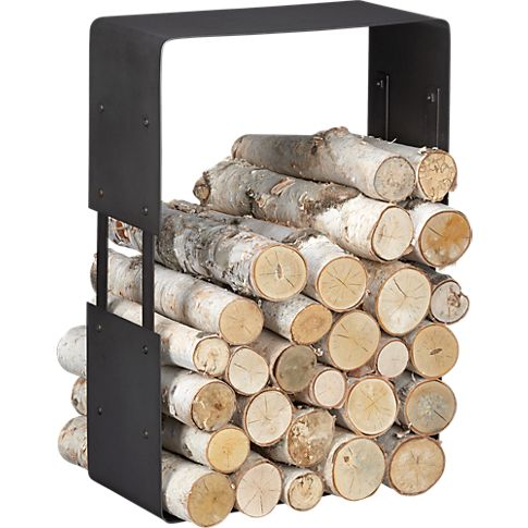 industrial wood storage - For if we ever have a wood burning fireplace. Or even if it's gas, this just looks cool.