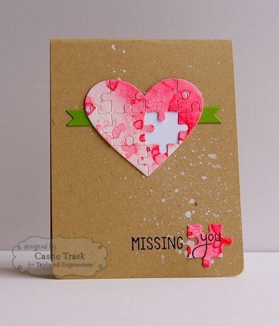 2. Trendige handgemachte Karten