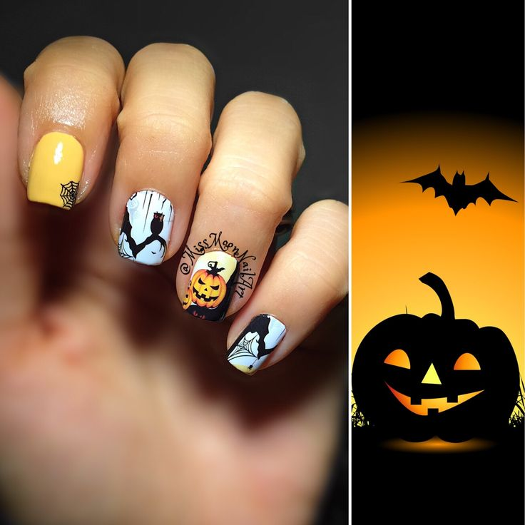 Pumpkin spice 🎃 #pumpkinspice #pumpkin #halloween #halloweennails #halloweennailart #halloween2016 #5daystohalloween #spookynails #nailart #naildesigns #halloweendesigns #nailpolishaddict #addiction #mypassion #myhobby #tuesday #helloweensoon #adornnails #whatsupnails #allaboutnails #missmoonnailart #cantwait #october2016 #fall #octoberfashion #shortnails #nailcare #fashionismypassion #bat #sgnailartpromote