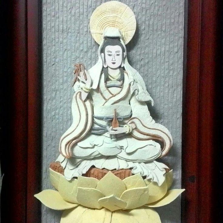 Kwan Yin    #budism #budha #buddha #bodhisattva #kwanyin #kuanyin #guanyin #phatgiao #botat #quanam #quantheam #quantheambotat #not #papercut #papercutting #sandstone  #sandstonecraft #handmade